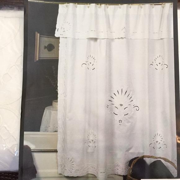 Bath Nantucket Battenberg White Lace Shower Curtain Poshmark